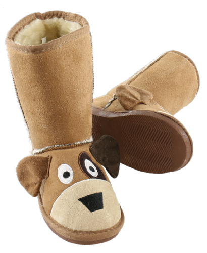 Kids Dog Toasty Toez Slipper Boots - Lazy One®